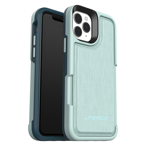 LifeProof FLiP Case for iPhone 11 Pro - Water Lily (Light Blue/Green)