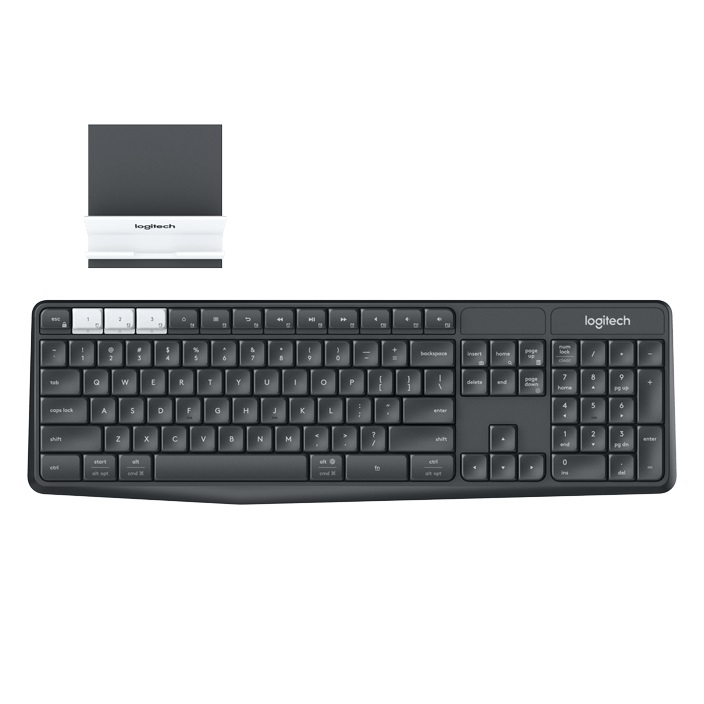 Logitech K375s Multi-Device Wireless Bluetooth Keyboard with Universal Stand