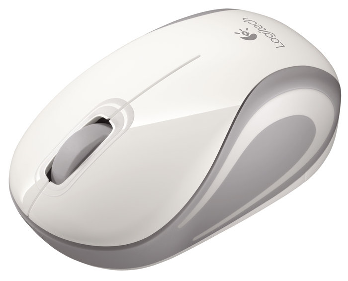 Logitech M187 Wireless Mini Mouse - White