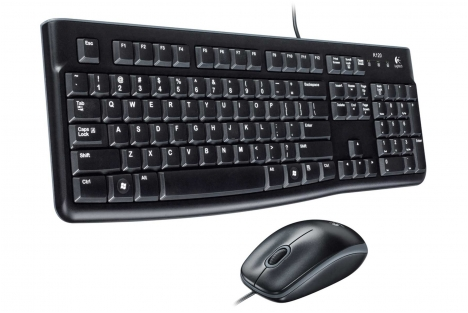 Logitech MK120 USB Wired Keyboard & Mouse Combo