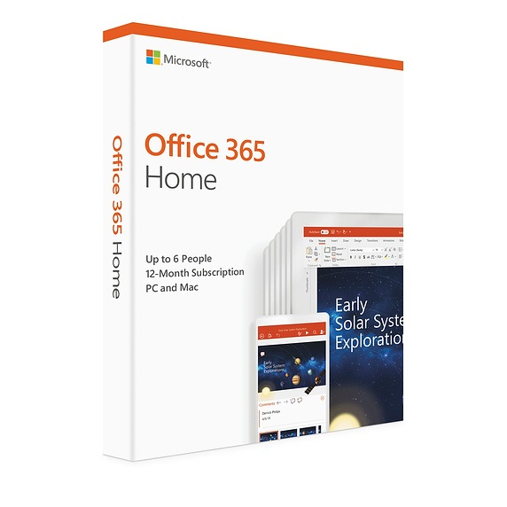 Microsoft Office 365 Home 1 Year Subscription for PC & Mac - Retail Pack