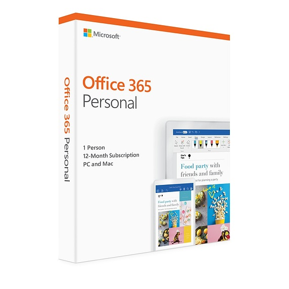 Microsoft Office 365 Personal 1 Year Subscription for PC & Mac - Retail Pack