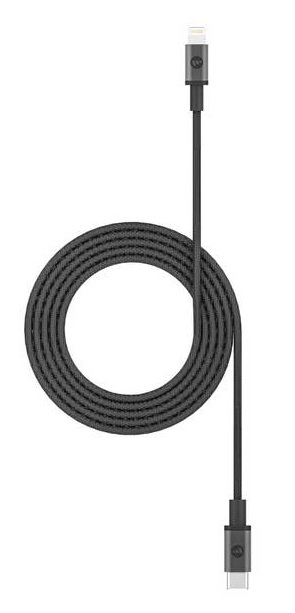 Mophie 1.8m USB-C to Lightning Braided Charge & Sync Cable - Black