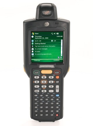 Zebra Rugged MC3190 Rotating Head 1D SR (High Capacity Battery) WiFi Bluetooth PDT with Windows Mobile 6.5
