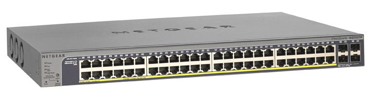 Netgear ProSafe 48-port Gigabit Smart Switch PoE and 4 SFP