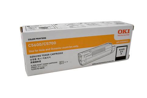 Oki C56BTONE Black Toner Cartridge
