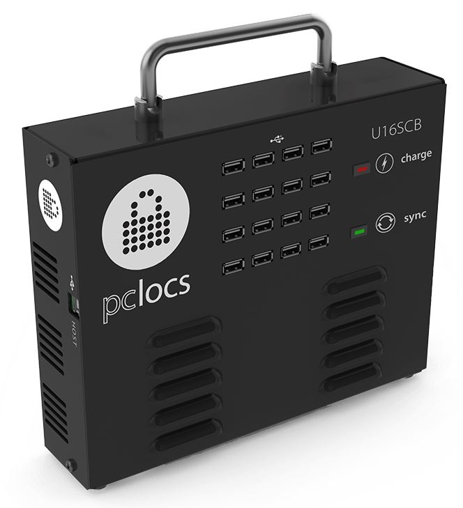 PC Locs iQ 16 Sync Charge Box - 16 iPad & Tablet Devices