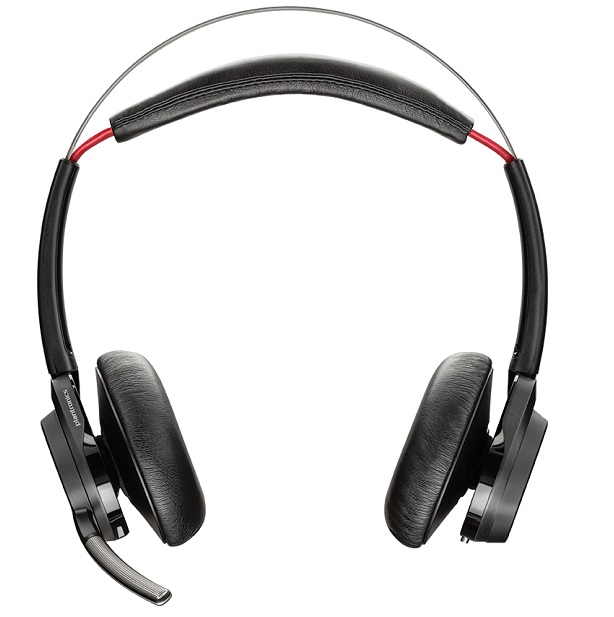 Poly Voyager Focus B825 UC USB-A Bluetooth Over the Head Wireless Stereo Noise Cancelling Headset