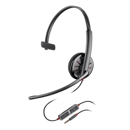 Poly Blackwire 215 UC Wired Over Head 3.5mm Mono Headset