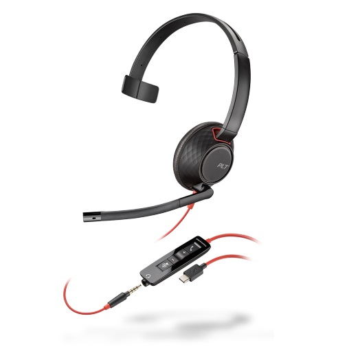 Poly Blackwire 5210 UC Wired Mono Over Head USB Type-C Headset