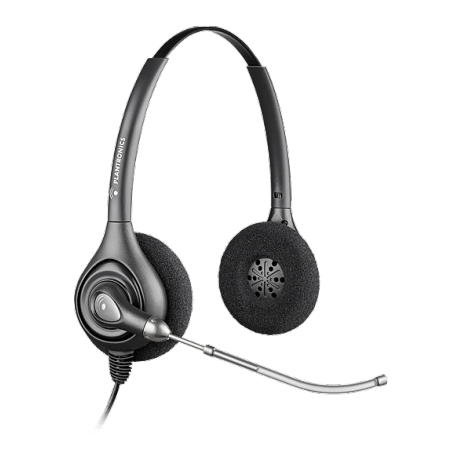 Plantronics SupraPlus HW261 Wired Stereo Over Head Quick Disconnect Voice Tube Headset