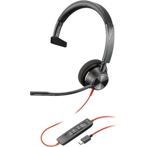 Poly Blackwire 3310-M MS USB-C Over the Head Wired Mono Headset