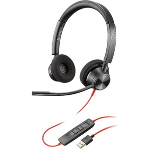 Poly Blackwire 3320-M MS USB-A Over the Head Wired Stereo Headset - Optimised for Microsoft Business Applications