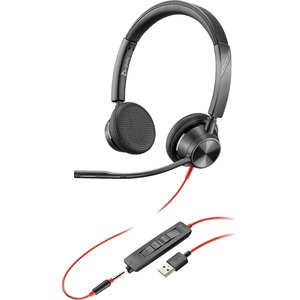 Poly Blackwire 3325-M MS USB-A & 3.5mm Over the Head Wired Stereo Headset