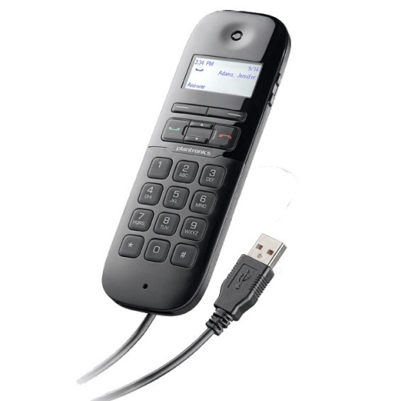 Poly Calisto 420 UC USB Wired Handset - Black