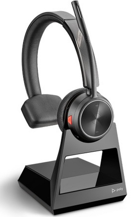 Poly SAVI 7210 Office Series UC DECT Over the Head Wireless Mono Headset with Noise Cancelling