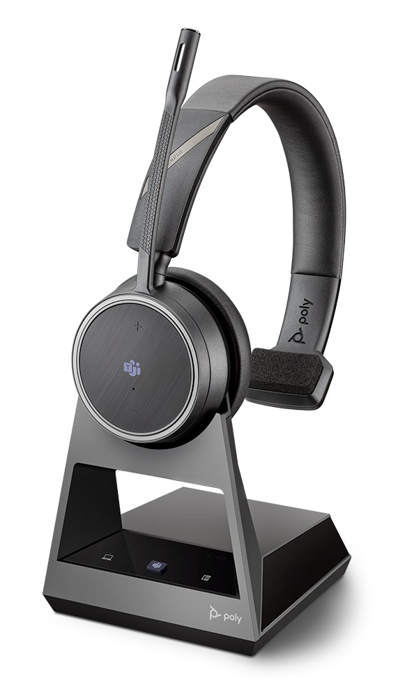 Poly Voyager 4210 Office MS USB-A Bluetooth Over the Head Wireless Mono Headset with 2 Way Base - Optimised for Microsoft Business Applications