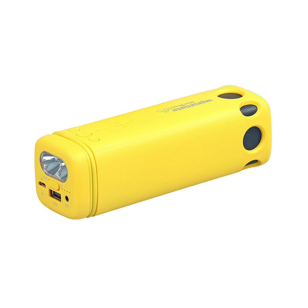 Promate BikerMate Rugged Wireless Speaker with 8000mAh Powerbank & Torch - Yellow