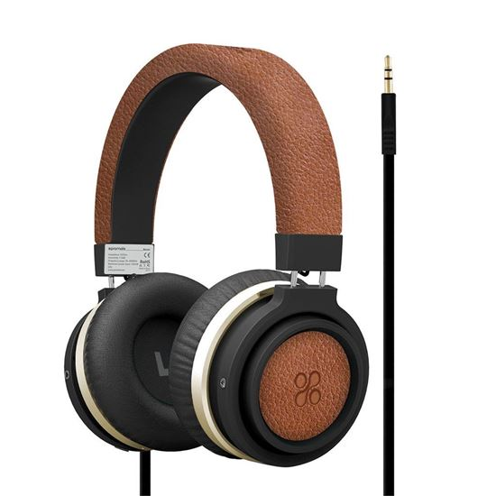 Promate BOOM Dynamic Hi-Fi Over Ear Ergonomic Stereo Wired Headset - Brown