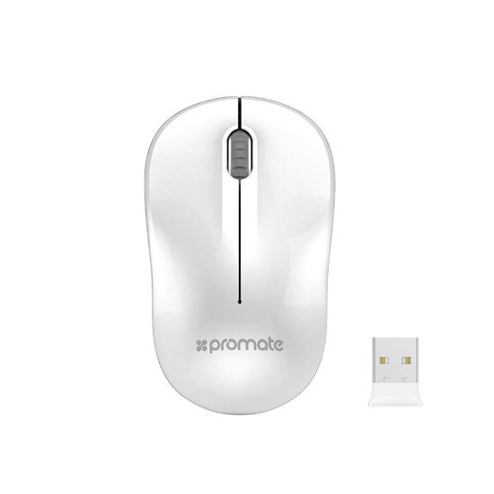 Promate CLIX-1 Wireless Entry Level Optical Mouse - White