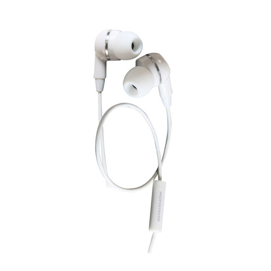 Promate EarMate-iS Multi-functional Universal Stereo Headphones - White