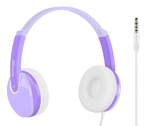 promate kiddie over the ear wired stereo headset purple. Black Bedroom Furniture Sets. Home Design Ideas