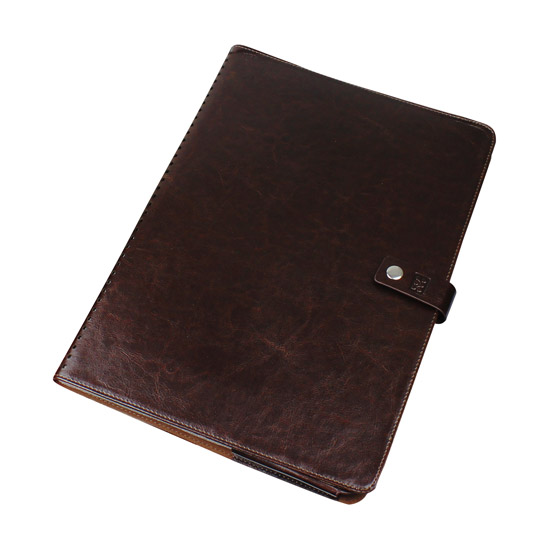 Promate MacLine-Pro13 Protective Leather Folder Case for Macbook Pro 13 - Brown