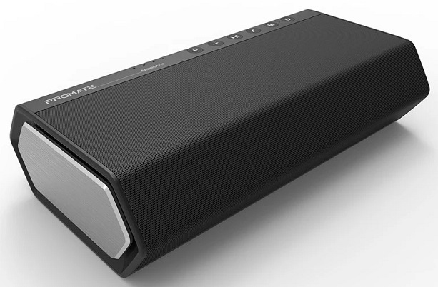 Promate MAESTRO 40W High Bass Wireless & 3.5mm Aux Speaker with Subwoofer - Black