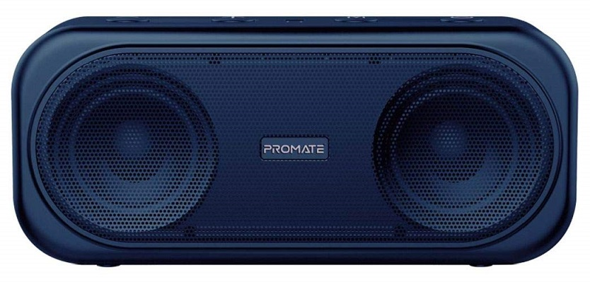 Promate Otic 10W Stereo Portable Bluetooth Wireless Speaker with MicroSD Slot - Blue