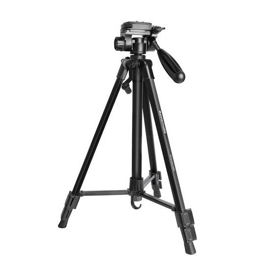 Promate PRECISE-140 3-Section 50-150cm Aluminium Alloy Tripod with Rapid Adjustment Central Balance