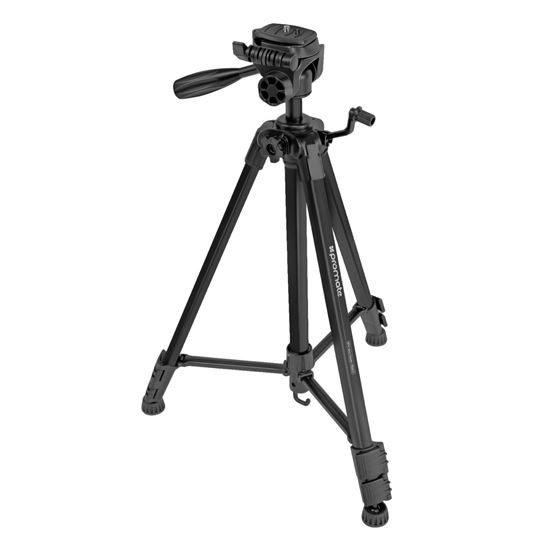 Promate PRECISE-150 3-Section 53-150cm Aluminium Alloy Tripod with Quick Release Plate