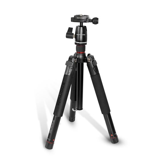 Promate Precise-155 5-Section 42-153cm Aluminium Travel Tripod with Integrated Monopod