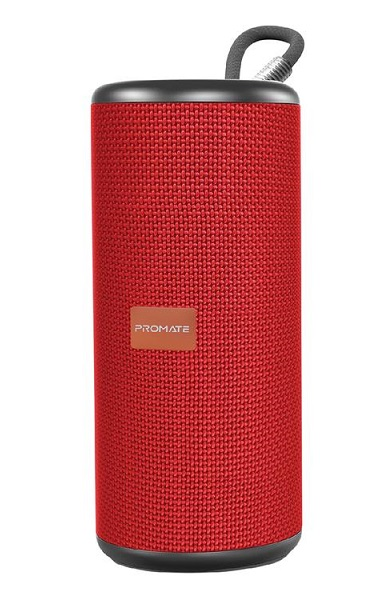 Promate Pylon 10W High Definition Bluetooth Stereo Sound Speaker - Red