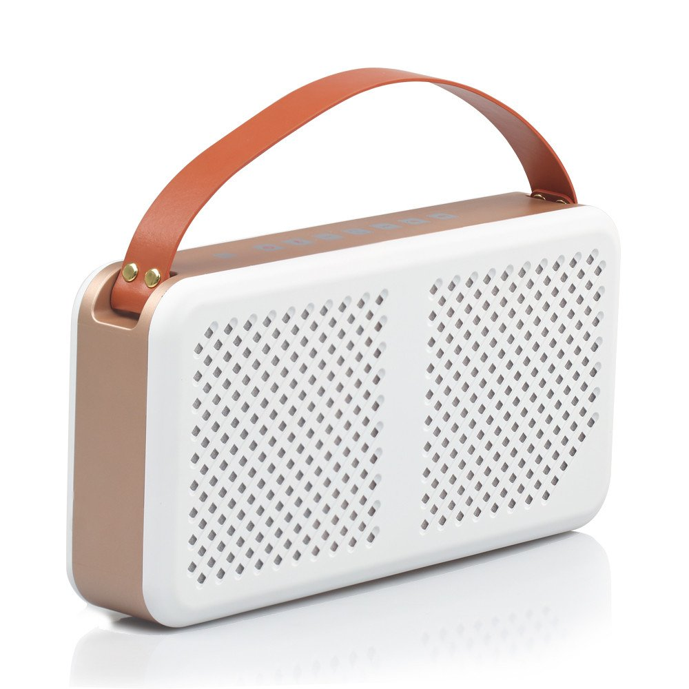 Promate Radiant 15W Wireless Bluetooth Splashproof Speaker with 4400mAh Power Bank - White
