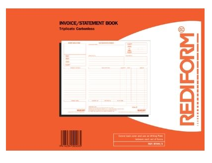 Rediform Invoice & Statement Triplicate Book - 50 Leaf