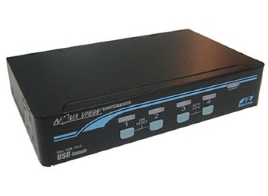 Rextron 1-4 USB/PS2 Hybrid KVM Switch with USB Console Ports.