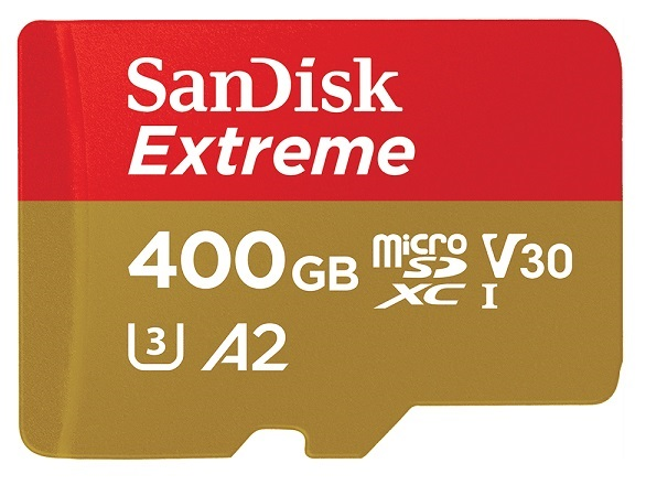 SanDisk 400GB Extreme Micro SDXC Memory Card