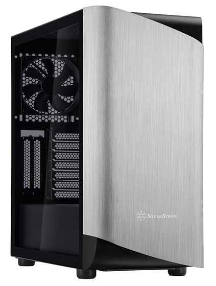 SilverStone SETA A1 ATX Mid Tower Tempered Glass Case - Silver