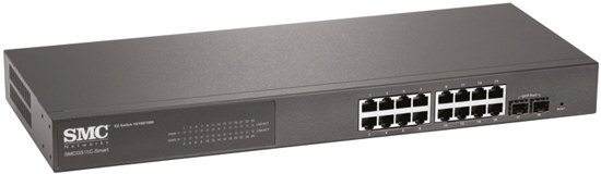 SMC 16 Port Gigabit Smart Managed Ethernet Switch with 2 SFP Ports (IPv6 Compliant)