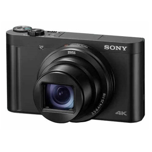 Sony DSC-WX800 18.2 Megapixel 28x Optical Zoom 4K Digital Camera - Black