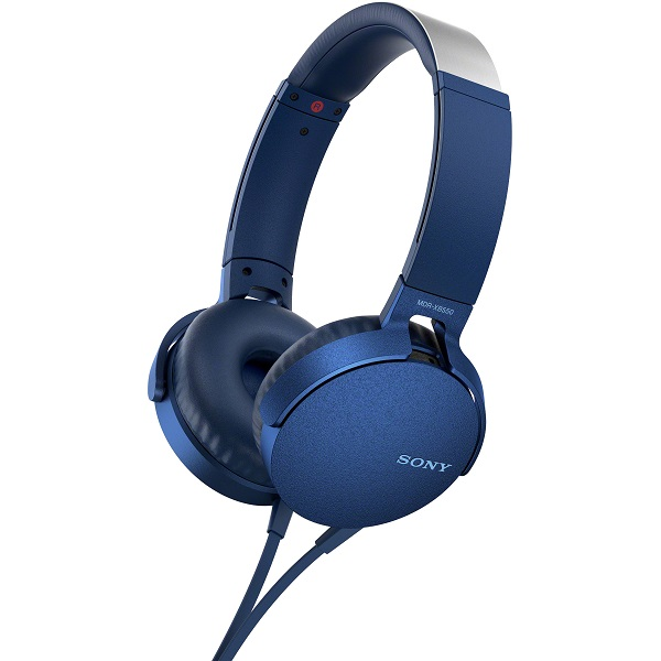Sony MDR-XB550AP Extra Bass Overhead Style Wired Headphones - Blue