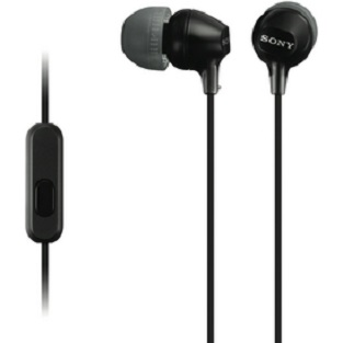 Sony MDR-EX15APB In Ear Headphone with Smart Phone Control - Black