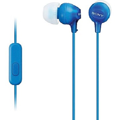 Sony MDR-EX15APLI In Ear Headphone with Smart Phone Control - Blue
