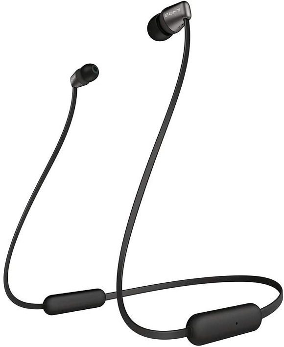 Sony WI-C310 Bluetooth In-ear Wireless Headphones with Built-In Microphone - Black