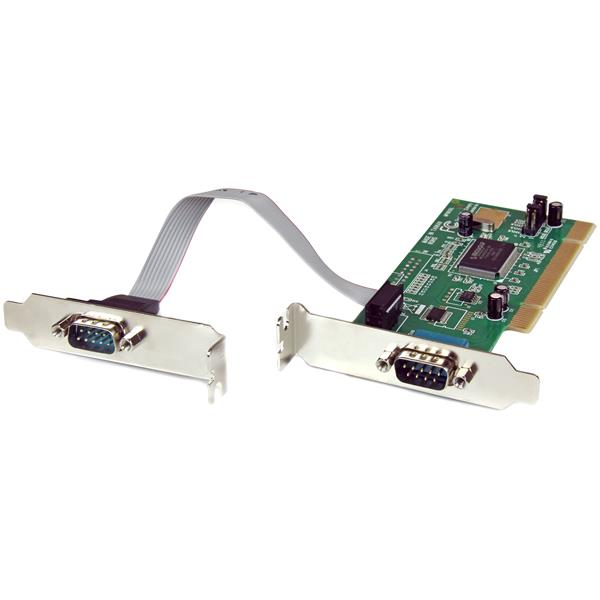 StarTech 2 Port PCI Low Profile DB-9 RS232 Serial Adapter Card