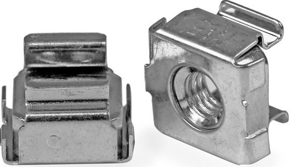 StarTech M5 Silver Cage Nuts - 100 Pack
