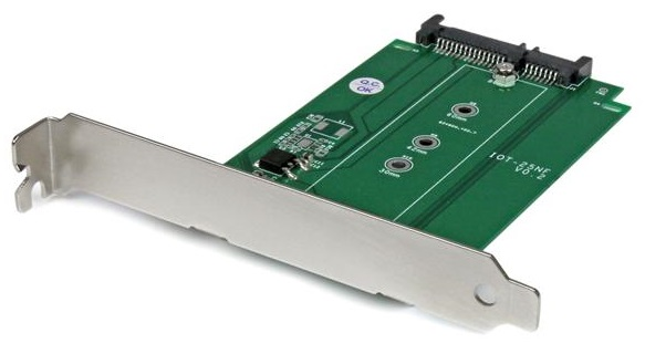StarTech M.2 to SATA SSD Adapter - Expansion Slot Mounted