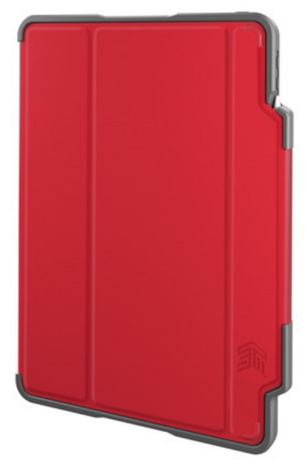 STM Dux Plus Folio Case with Apple Pencil Storage for iPad Pro 12.9 Inch (3rd Gen) - Red