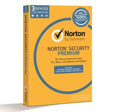 Symantec Norton Security Premium Multi-Device 12 Month Subscription - For 3 Devices + $30 Cashback Offer!