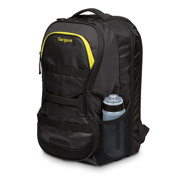 Targus Fitness 15.6 inch Laptop Backpack Bag - Black Yellow